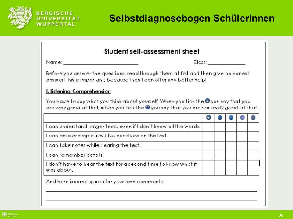 36 Selbstdiagnosebogen SchülerInnen