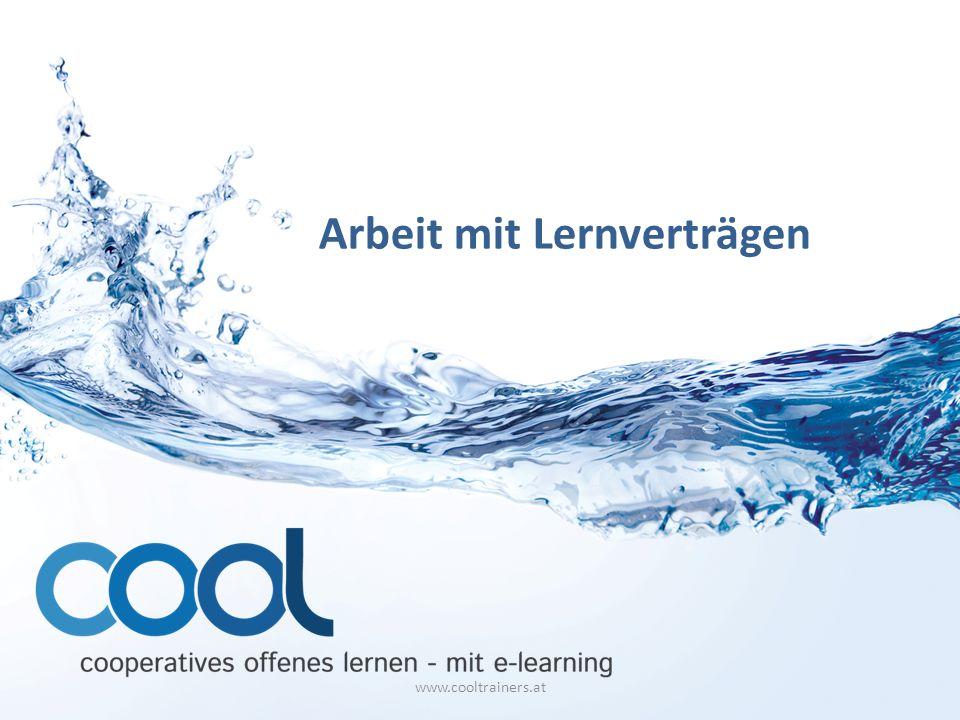 Arbeit mit Lernverträgen www.cooltrainers.at