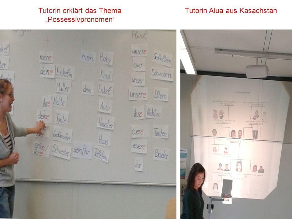 """Tutorin erklärt das Thema """"Possessivpronomen Tutorin Alua aus Kasachstan"""