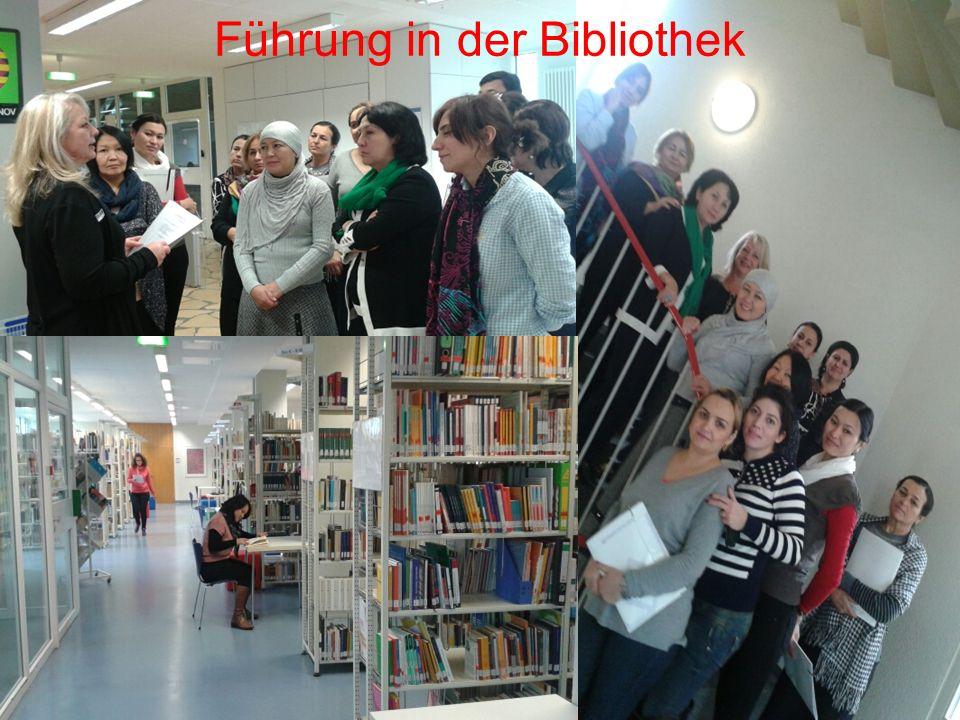 Führung in der Bibliothek