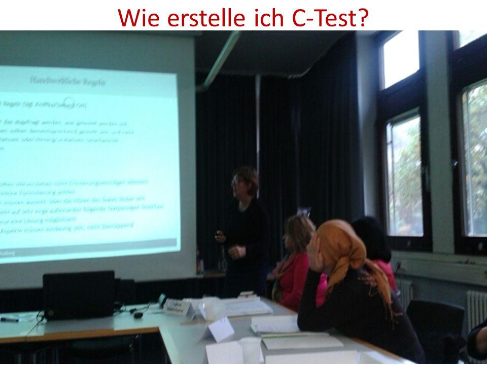 Wie erstelle ich C-Test?