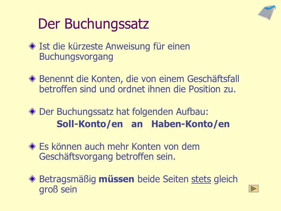 Übungsbuchungssätze 1.