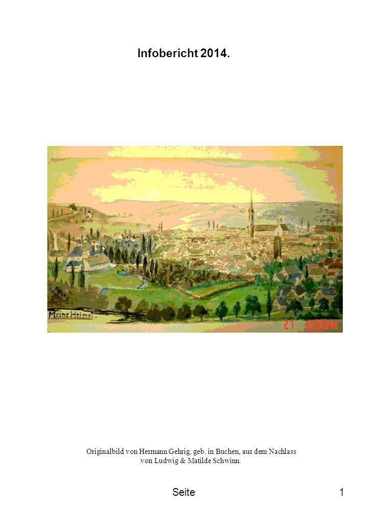 Seite1 Infobericht 2014. Originalbild von Hermann Gehrig, geb. in Buchen, aus dem Nachlass von Ludwig & Matilde Schwinn.
