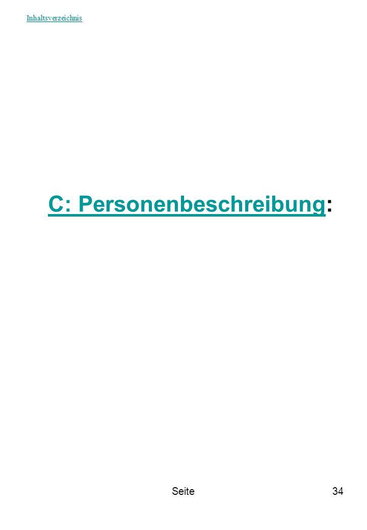 Seite34 C: PersonenbeschreibungC: Personenbeschreibung: Inhaltsverzeichnis