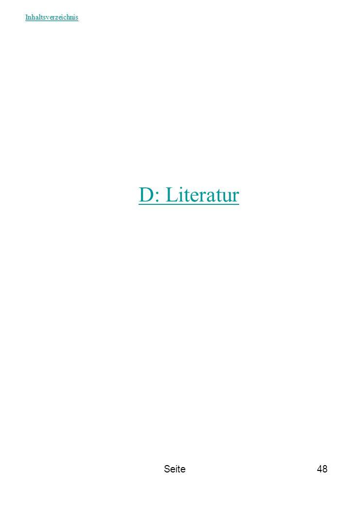 Seite48 D: Literatur Inhaltsverzeichnis