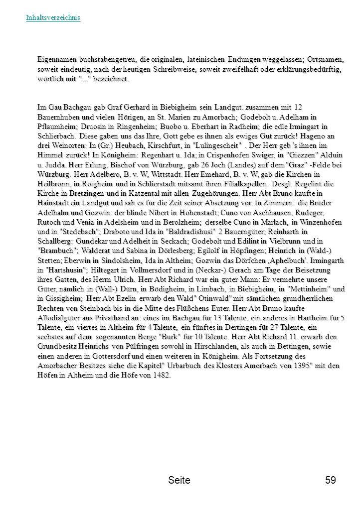 Seite59 Eigennamen buchstabengetreu, die originalen, lateinischen Endungen weggelassen; Ortsnamen, soweit eindeutig, nach der heutigen Schreibweise, s