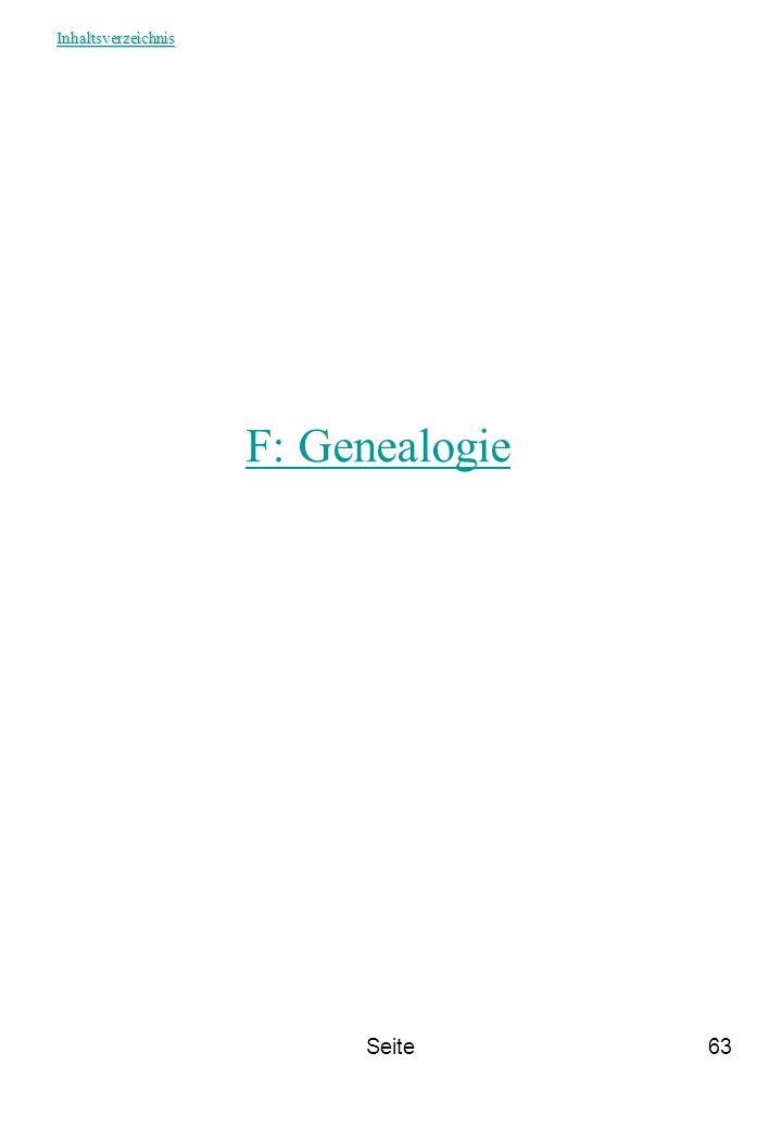 Seite63 F: Genealogie Inhaltsverzeichnis
