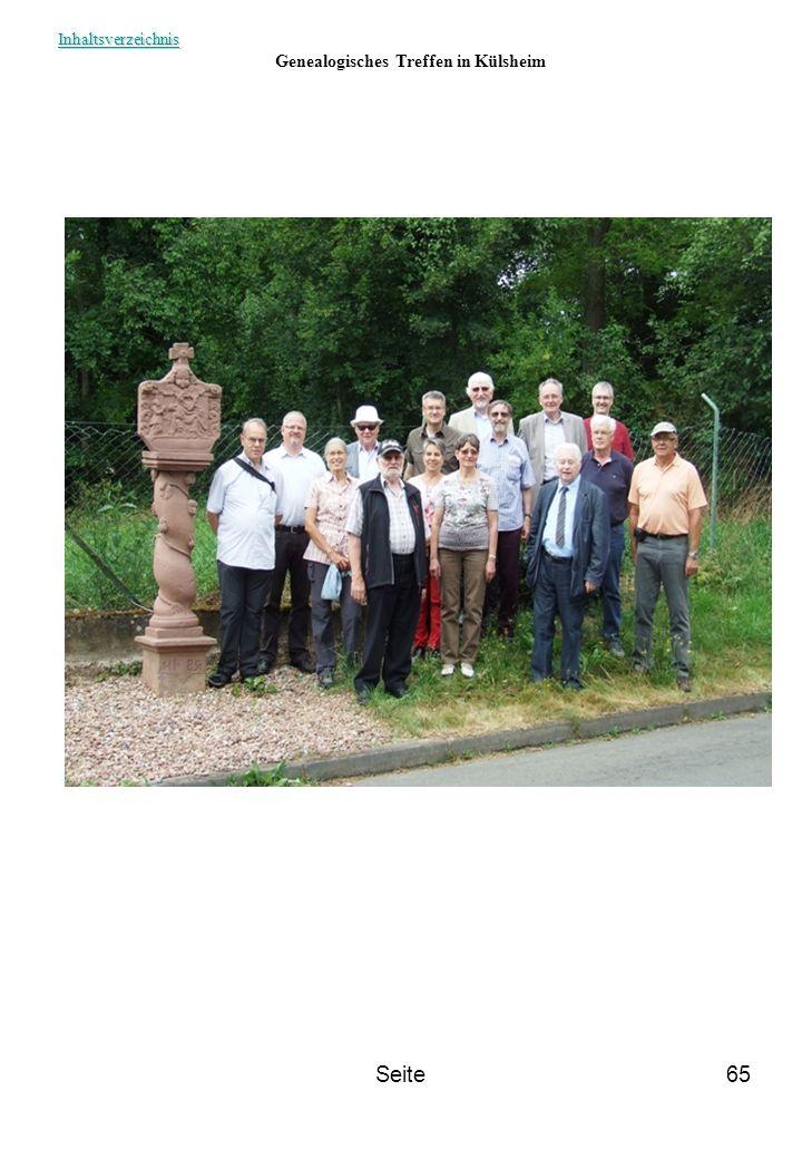 Seite65 Genealogisches Treffen in Külsheim Inhaltsverzeichnis