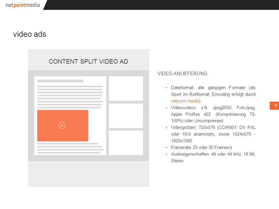 v video ads CONTENT SPLIT VIDEO AD .