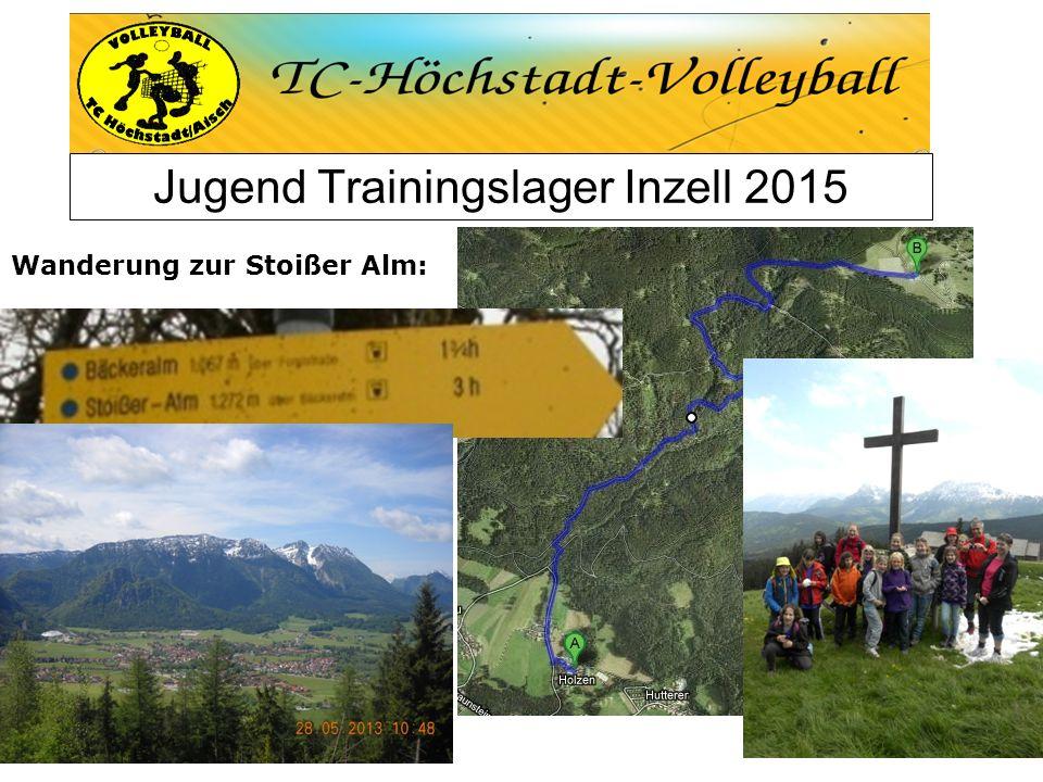 Jugend Trainingslager Inzell 2015 Wanderung zur Stoißer Alm: