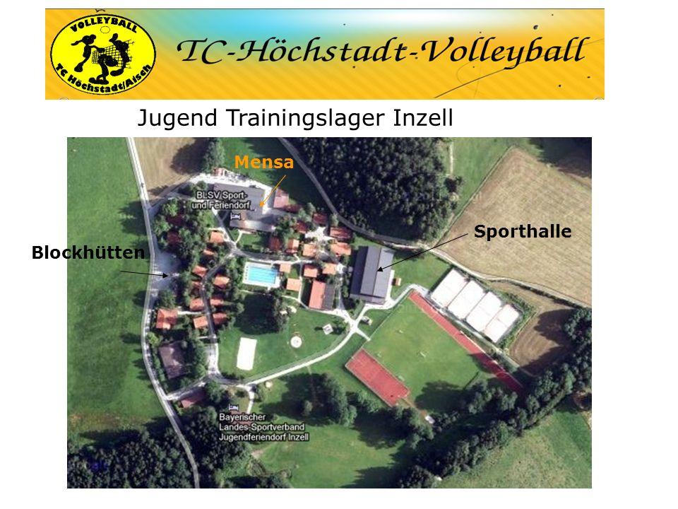 Jugend Trainingslager Inzell Sporthalle Blockhütten Mensa