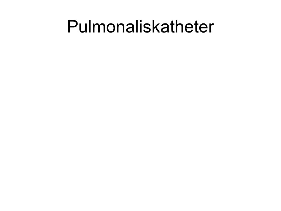 Pulmonaliskatheter