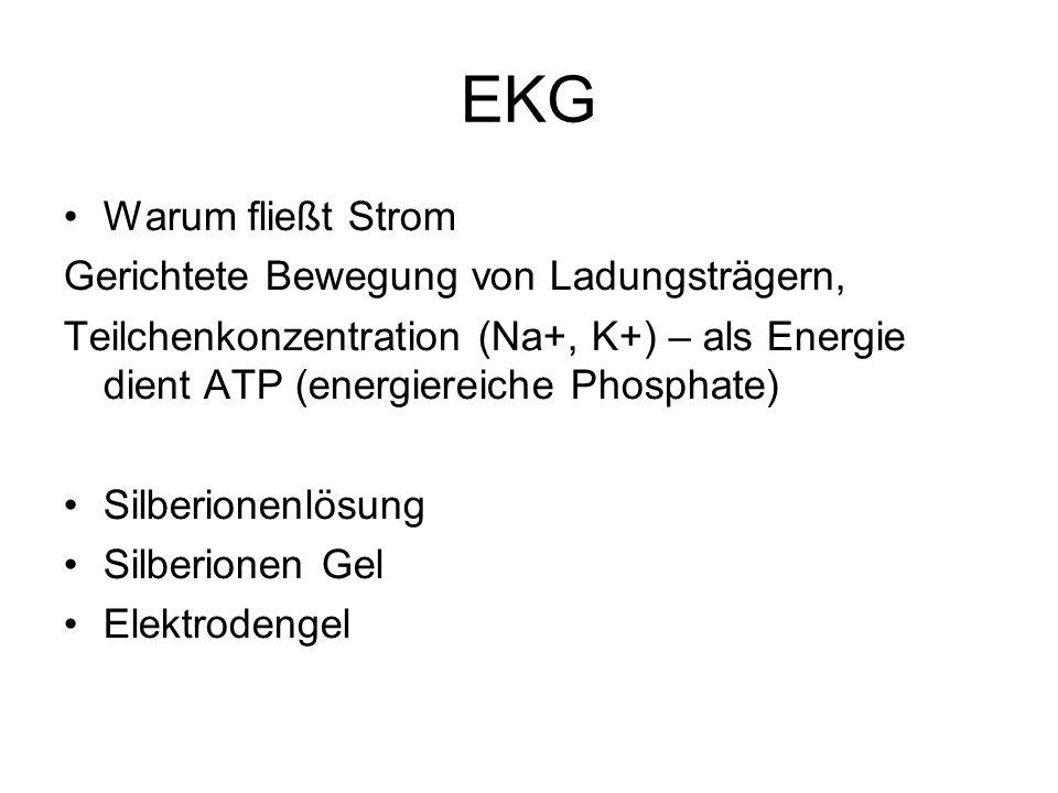 Strom - EKG Elektrostatik