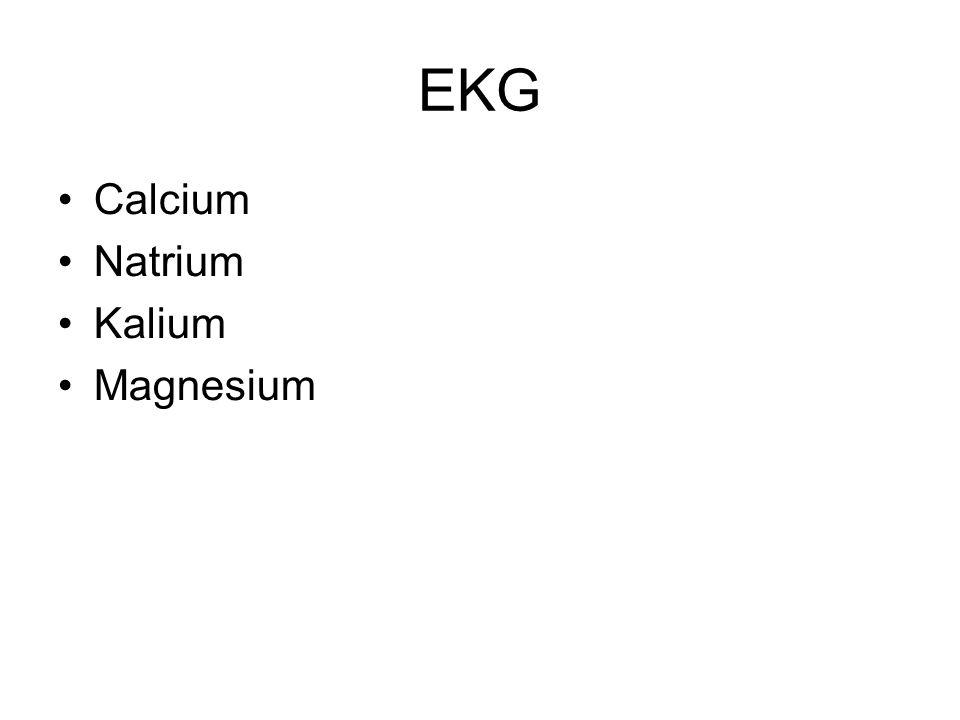 EKG Calcium Natrium Kalium Magnesium