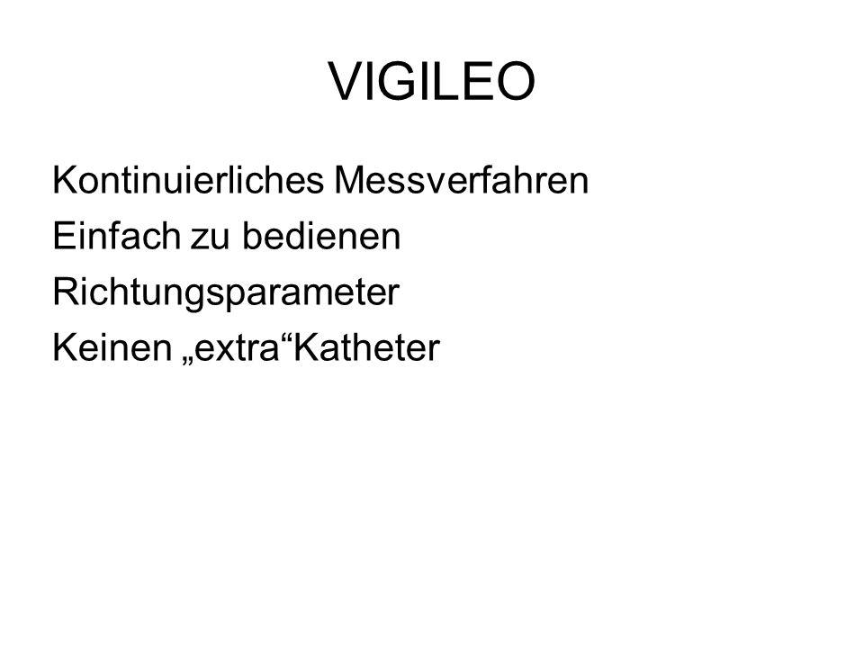 """VIGILEO Kontinuierliches Messverfahren Einfach zu bedienen Richtungsparameter Keinen """"extra""""Katheter"""
