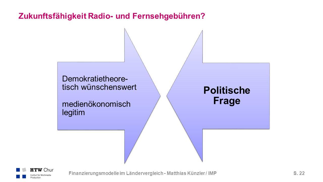 S. 22 Zukunftsfähigkeit Radio- und Fernsehgebühren.