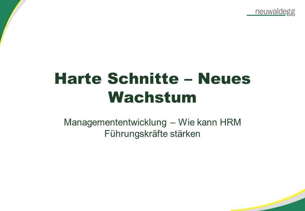 Harte Schnitte – Neues Wachstum Managemententwicklung – Wie kann HRM Führungskräfte stärken
