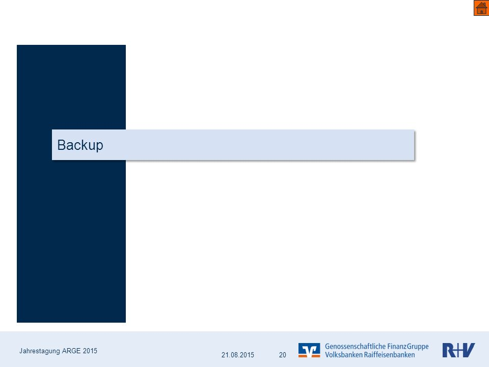 Backup 20 Jahrestagung ARGE 2015 21.08.2015