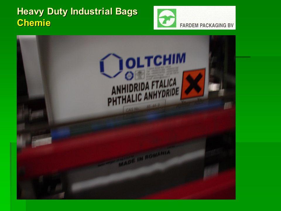 Heavy Duty Industrial Bags Innovationen zur Dickenreduzierung Innovationen bei Polymeren LL C6, Metallocene, HD-PE Innovationen des Maschinenparks Innovatives Arbeiten bei Fardem