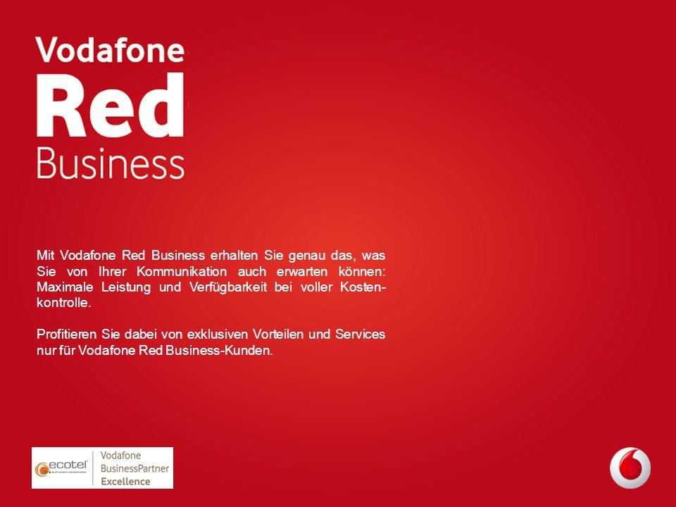Mit Vodafone Red Business erhalten Sie genau das, was Sie von Ihrer Kommunikation auch erwarten können: Maximale Leistung und Verfügbarkeit bei voller