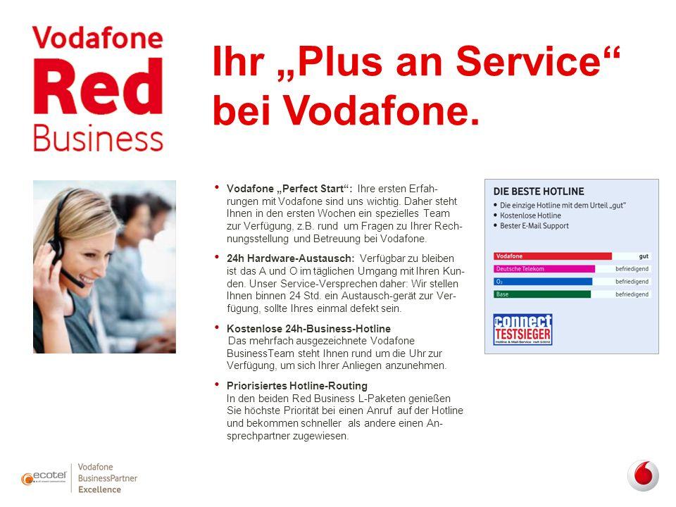 """Ihr """"Plus an Service"""" bei Vodafone. Vodafone """"Perfect Start"""": Ihre ersten Erfah- rungen mit Vodafone sind uns wichtig. Daher steht Ihnen in den ersten"""