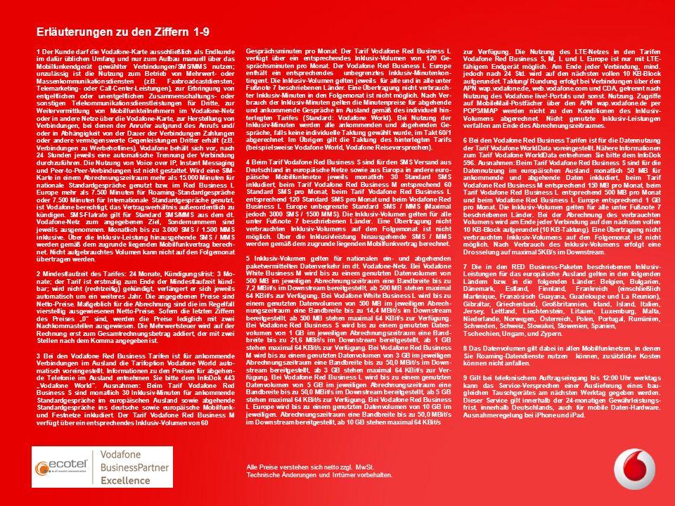 1 Der Kunde darf die Vodafone-Karte ausschließlich als Endkunde im dafür üblichen Umfang und nur zum Aufbau manuell über das Mobilfunkendgerät gewählt