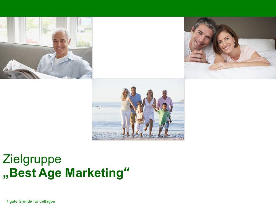 """7 gute Gründe für Cellagon Zielgruppe """"Best Age Marketing"""""""