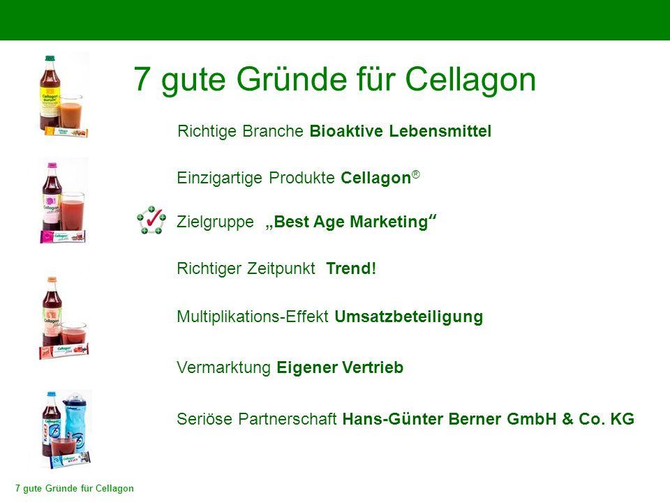 """7 gute Gründe für Cellagon Zielgruppe """"Best Age Marketing"""