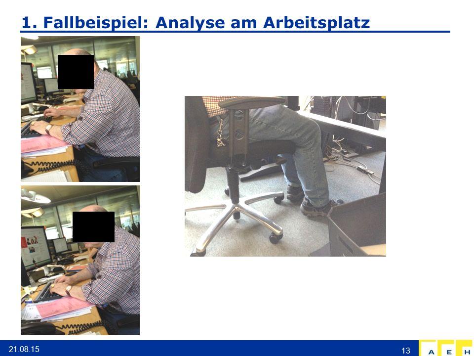 1. Fallbeispiel: Analyse am Arbeitsplatz 21.08.15 13