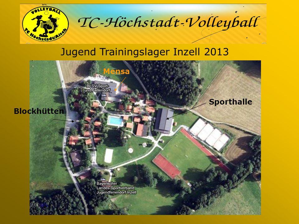 Jugend Trainingslager Inzell 2013 Sporthalle Blockhütten Mensa