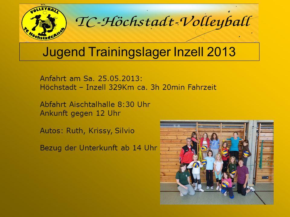 Jugend Trainingslager Inzell 2013 Anfahrt am Sa. 25.05.2013: Höchstadt – Inzell 329Km ca.