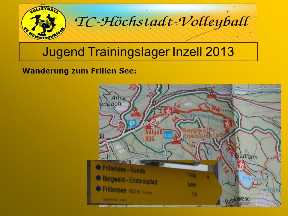 Jugend Trainingslager Inzell 2013 Wanderung zum Frillen See: