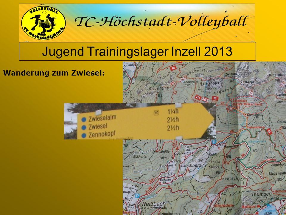 Jugend Trainingslager Inzell 2013 Wanderung zum Zwiesel: