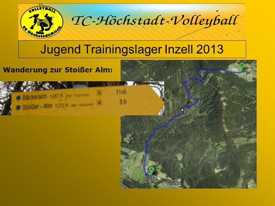 Jugend Trainingslager Inzell 2013 Wanderung zur Stoißer Alm:
