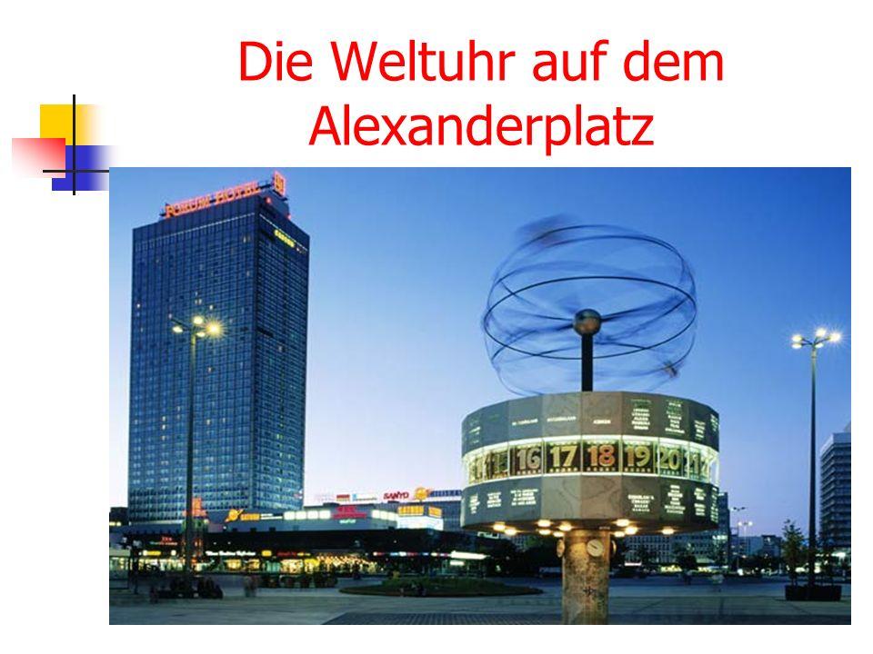 Der Berliner Fernsehturm Er ist 365 m hoch.