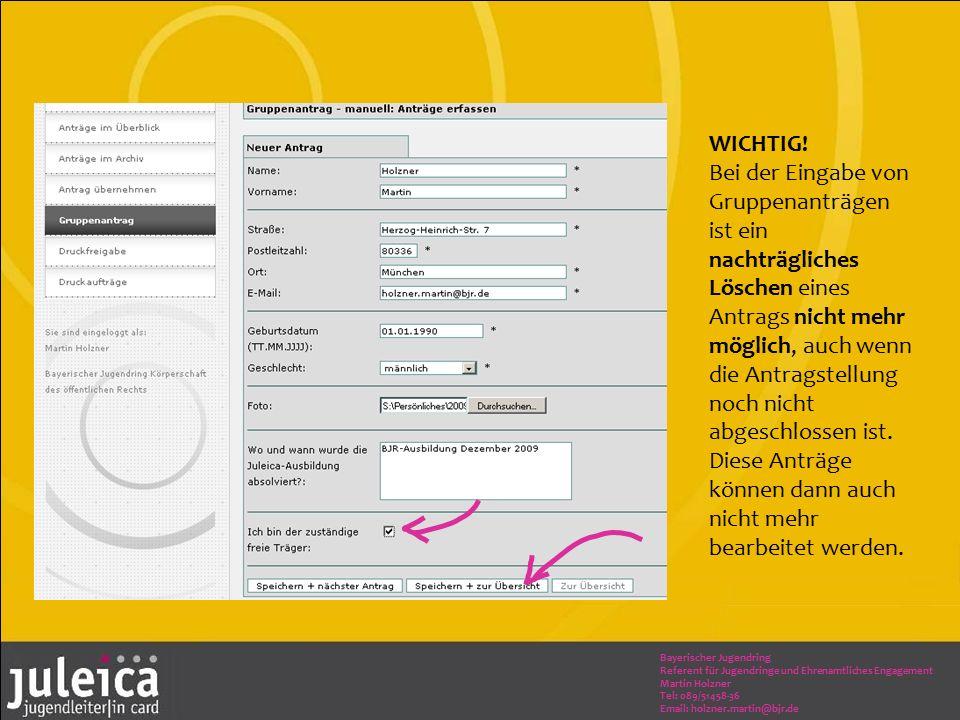 Bayerischer Jugendring Referent für Jugendringe und Ehrenamtliches Engagement Martin Holzner Tel: 089/51458-36 Email: holzner.martin@bjr.de WICHTIG.