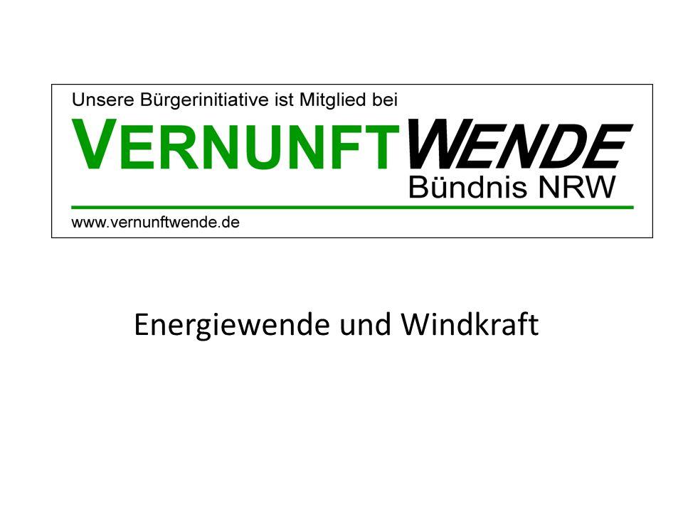 Energiewende und Windkraft