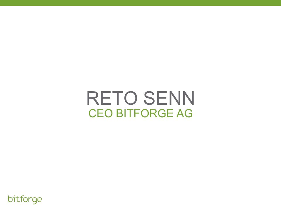 CEO BITFORGE AG RETO SENN