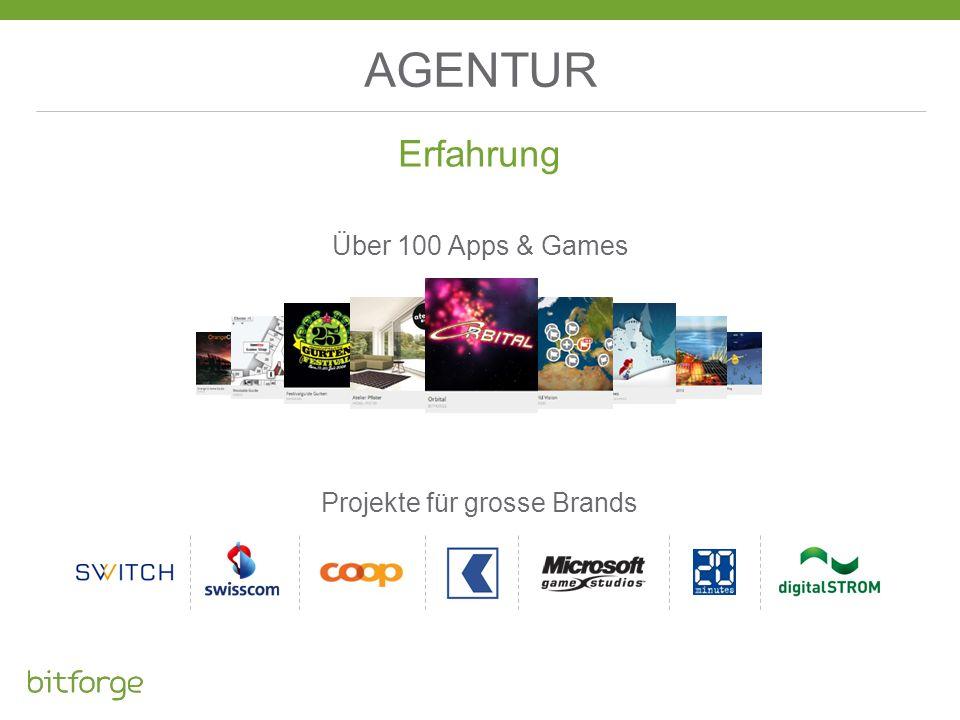 AGENTUR Erfahrung Projekte für grosse Brands Über 100 Apps & Games