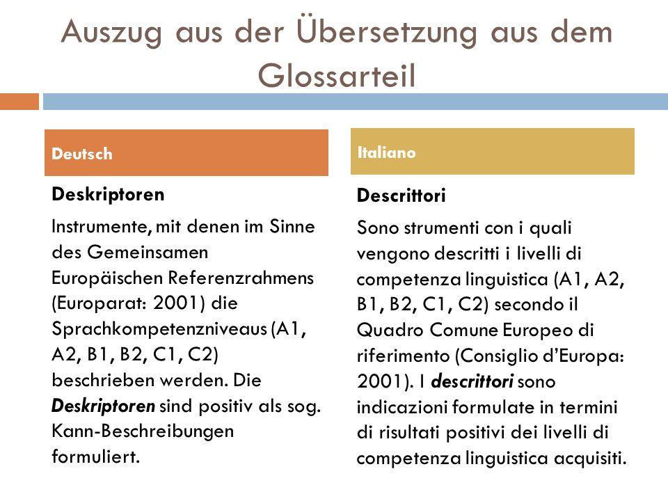 Auszug aus der Übersetzung aus dem Glossarteil  Domänen  Domäne ist ein Unterbegriff der Textkriterien und bedeutet soviel wie Bereich.