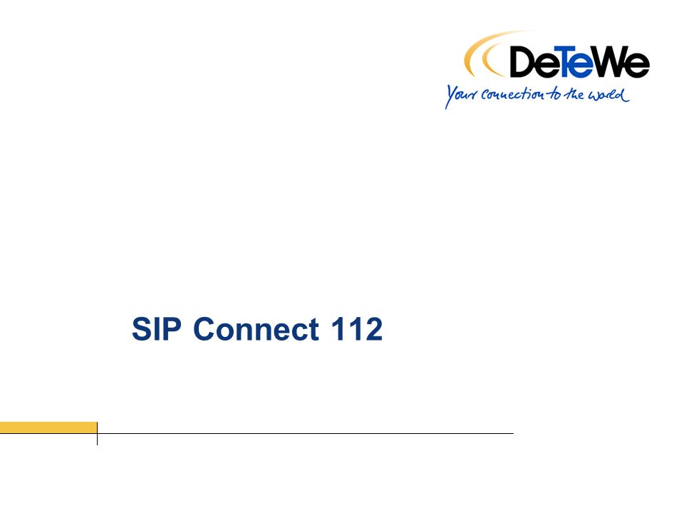 SIP Connect 112
