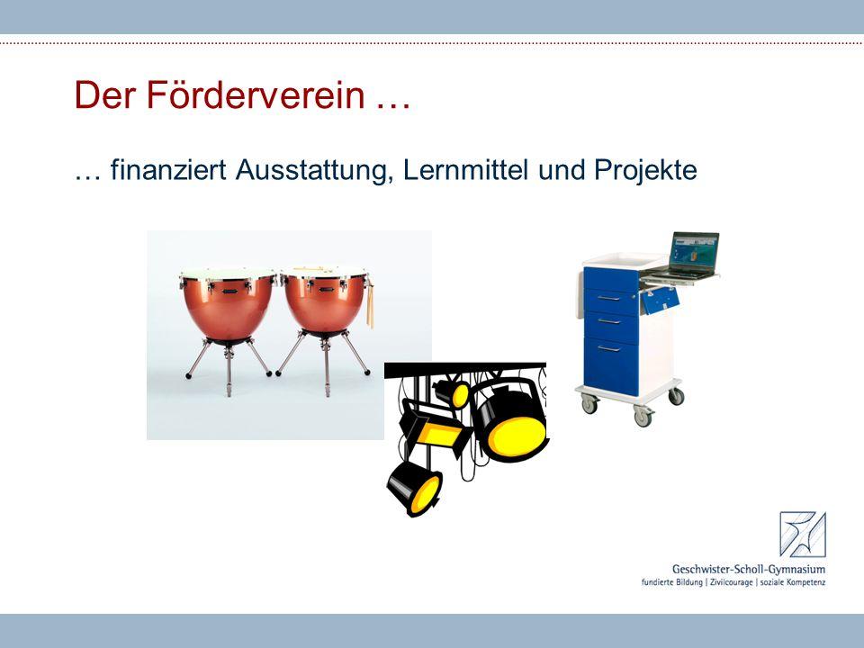 Der Förderverein … … finanziert Ausstattung, Lernmittel und Projekte