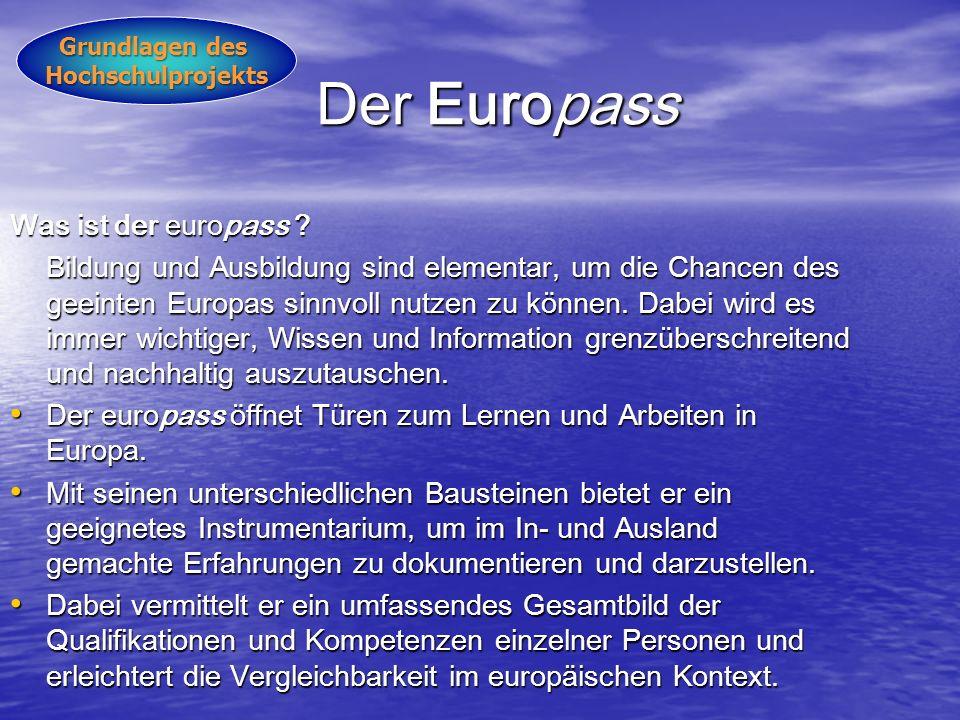Der Europass Der Europass Was ist der europass .