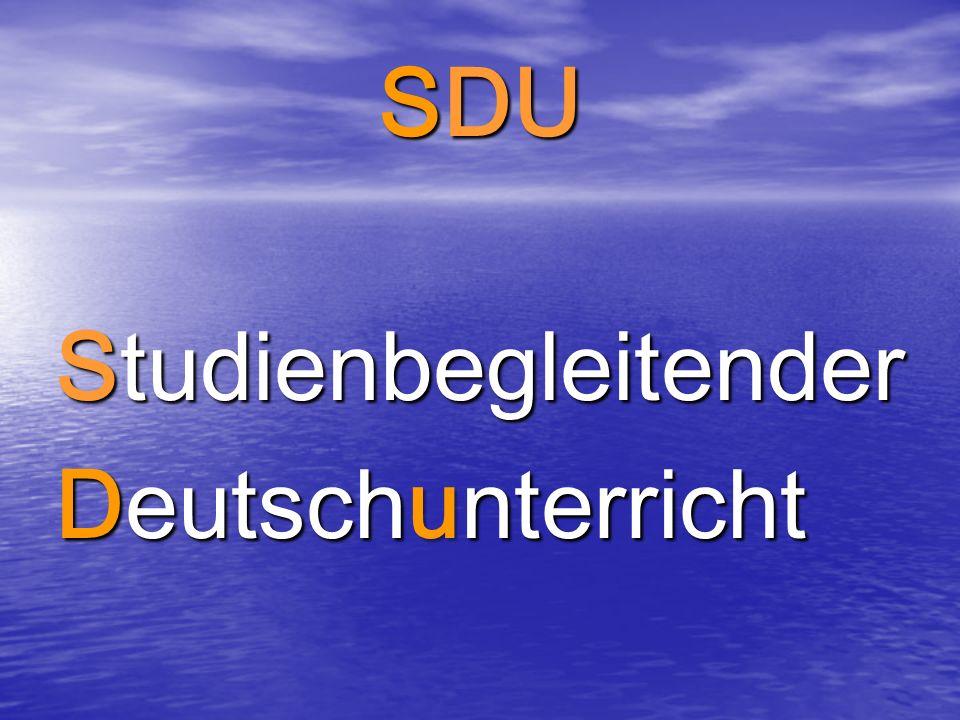 SDU Studienbegleitender Deutschunterricht