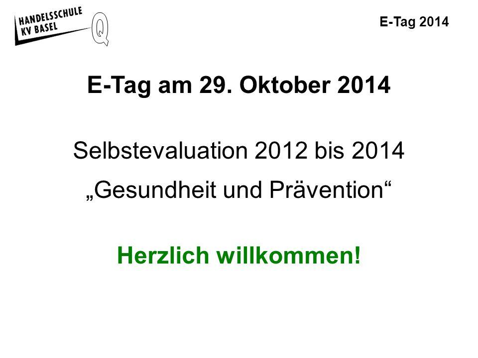E-Tag 2014 Sitzung am 13.08.2013 Finale Version der Fragebögen Die drei verschiedenen Fragebögen mit den Auswertungen könnt Ihr bei Bedarf gerne anschauen.