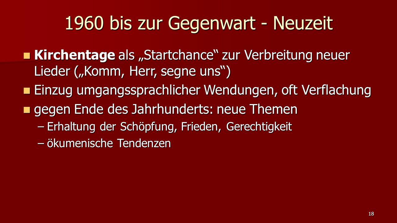 """Kirchentage als """"Startchance"""" zur Verbreitung neuer Lieder (""""Komm, Herr, segne uns"""") Kirchentage als """"Startchance"""" zur Verbreitung neuer Lieder (""""Komm"""