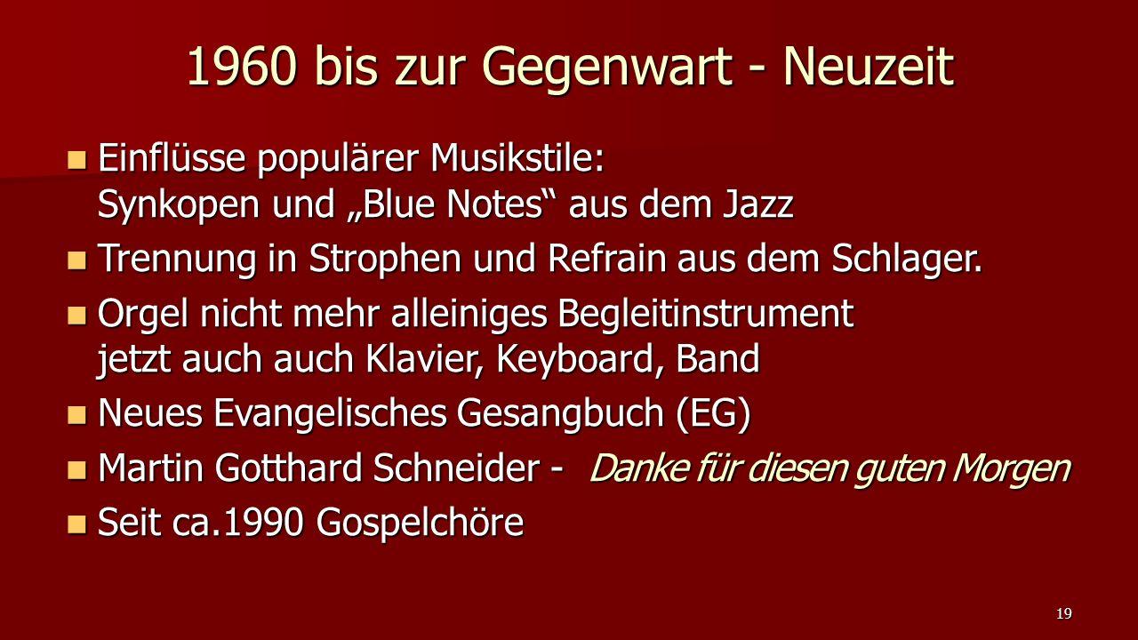 """Einflüsse populärer Musikstile: Synkopen und """"Blue Notes"""" aus dem Jazz Einflüsse populärer Musikstile: Synkopen und """"Blue Notes"""" aus dem Jazz Trennung"""