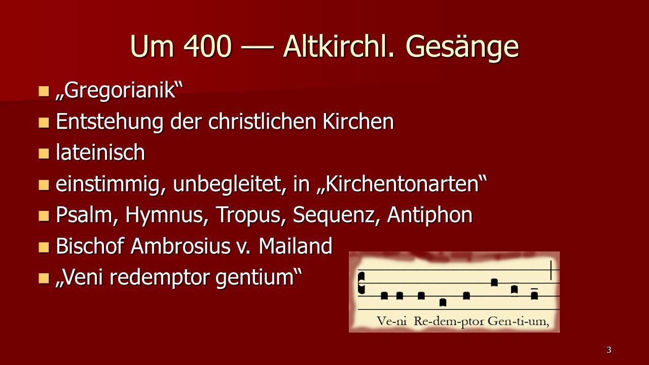 "a) Historismus, Rückwendung im ""lutherischen Geist a) Historismus, Rückwendung im ""lutherischen Geist 14 1800 - 19."