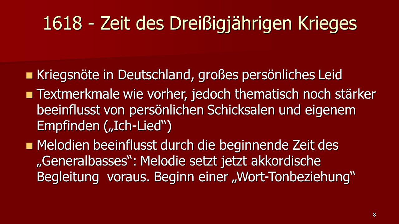 1618 - Zeit des Dreißigjährigen Krieges Kriegsnöte in Deutschland, großes persönliches Leid Kriegsnöte in Deutschland, großes persönliches Leid Textme