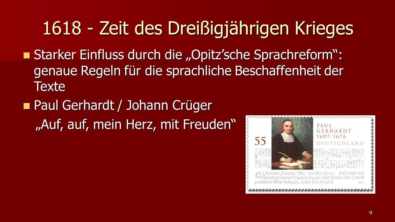 """1675 - Pietismus Neue Priorität: die """"Reinheit des Herzens ist wichtiger als die der """"Lehre ."""